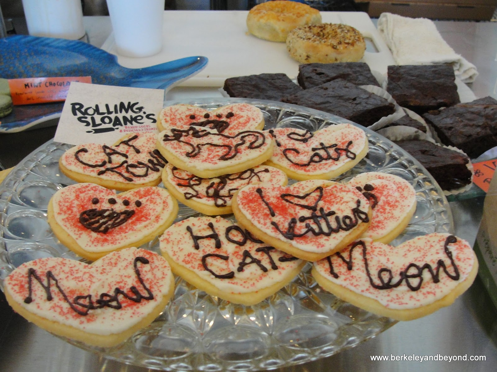 sugar cookies at Cat Town Cafe in Oakland, California