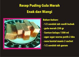 Resep Puding Gula Merah Enak dan Wangi by Ommasakom net