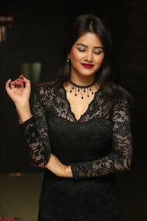 Actress Monica in spicy transparent Black Top at O Pilla Nee Valla Movie Audio Launch Feb 2017 087.JPG
