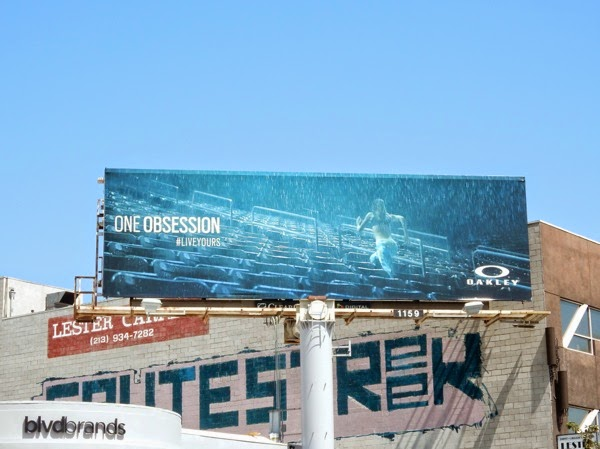 Oakley One Obsession rain runner billboard