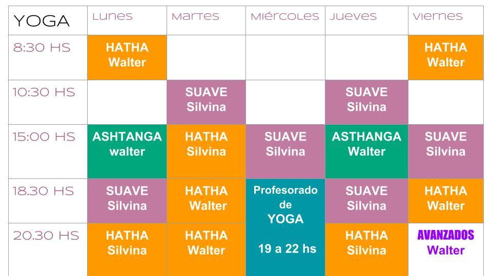 PANAMBÍ YOGA BUENOS AIRES  HORARIOS DE CLASES REGULARES 55ce136240e6