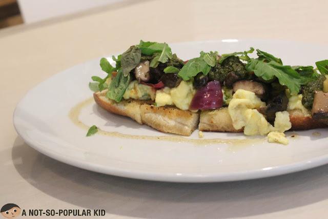 Mushroom Tartine of Little Owl Restaurant