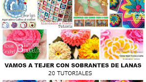 20 Proyectos para Tejer usando Ovillos Sobrantes de Lana / Tutoriales