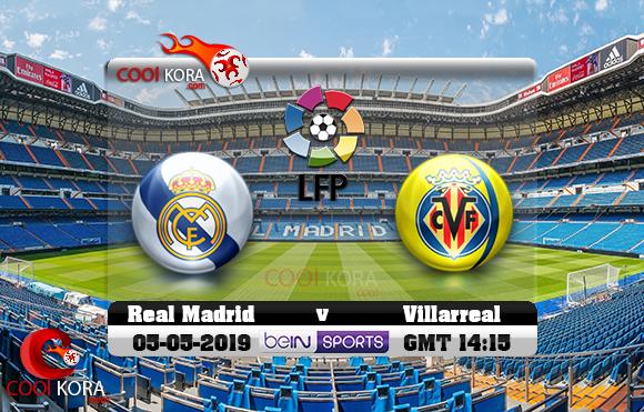 مشاهدة مباراة ريال مدريد وفياريال اليوم 5-5-2019 في الدوري الأسباني