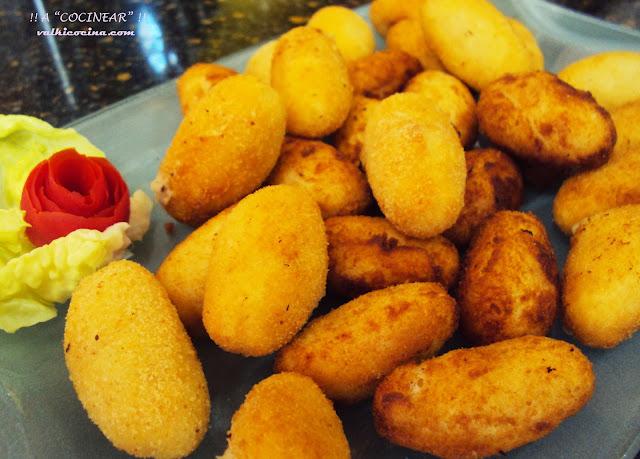 Mini croquetas de jamón cocido yqueso