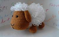 oveja amigurumi tejida por gabriela fuentes