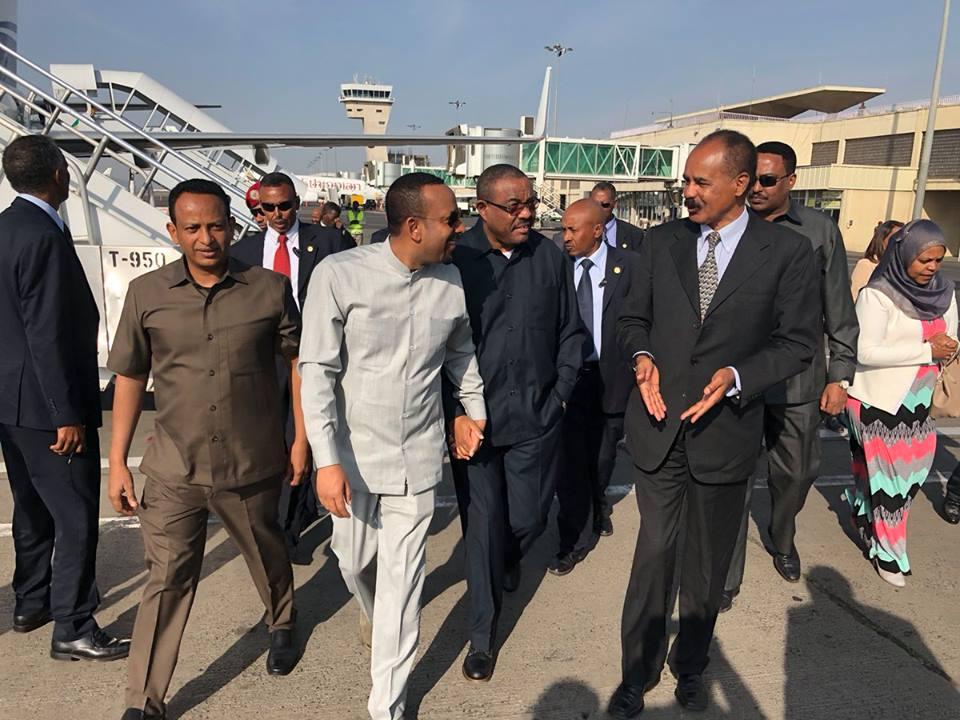 <Eritrea President arrives to Ethiopia