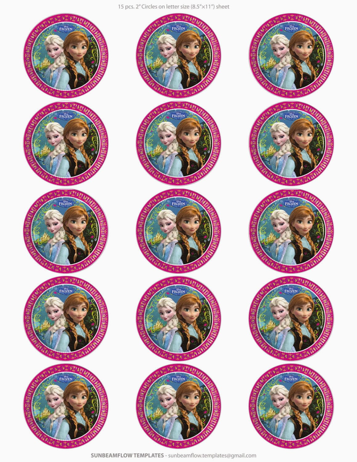 Frozen: Free Printable Toppers. - Oh My Fiesta! in english