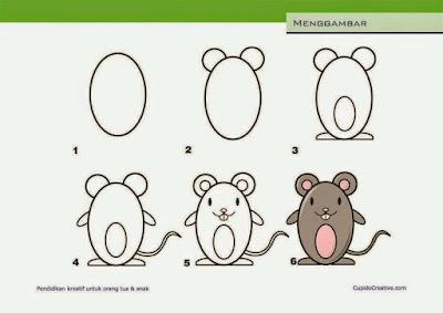 Cara menggambar hewan tikus