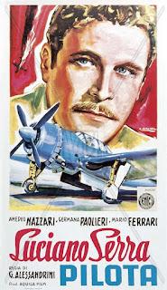 The poster advertising Nazzari's first big success, Luciano Serra, Pilot