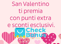 Logo CheckBonus ti regala punti extra per San Valentino