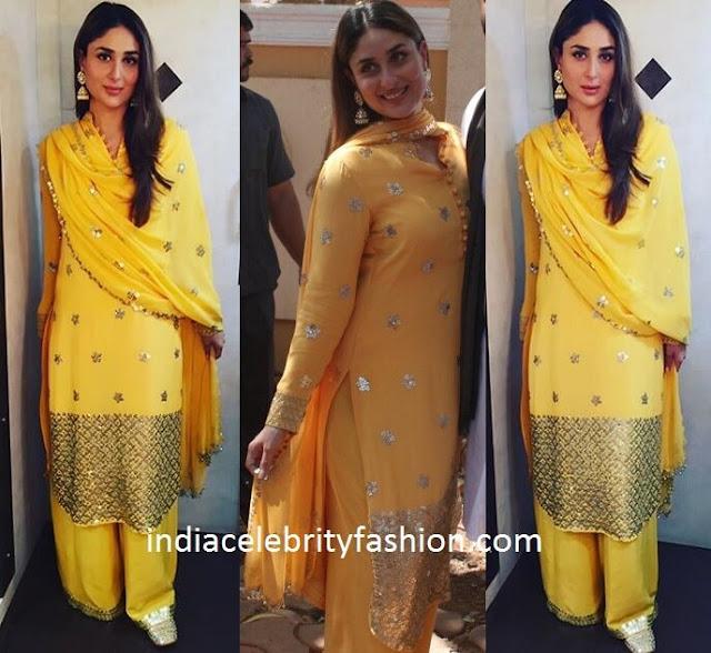 Kareena Kapoor in Anushka Khanna Palazzo suit
