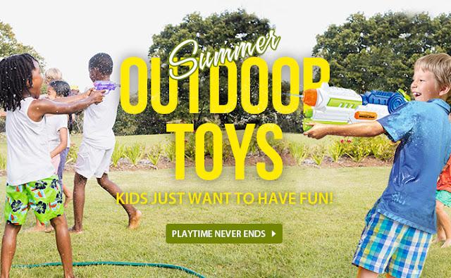 оферти за играчки и игра на открито - летни забавления на децатата