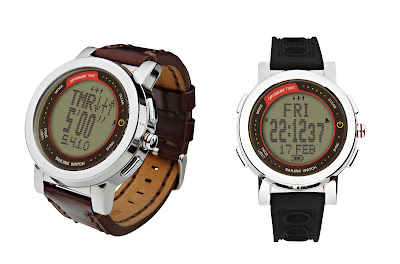 The Optimum Time Series 16 features a large 28mm display and comes with two bands.