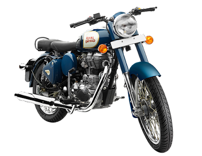 Royal Enfield Classic 350 front view Blue hd