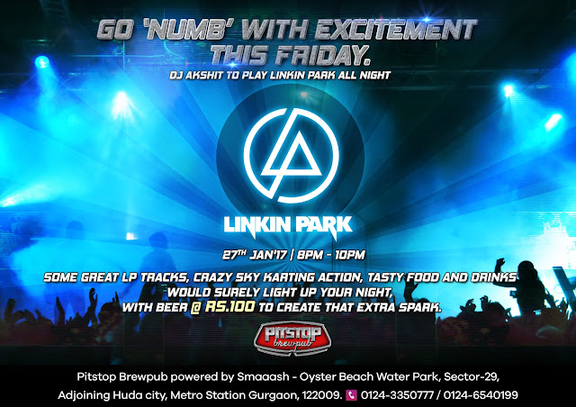 Linkin Park Night at SMAAASH Pitstop Brew Pub