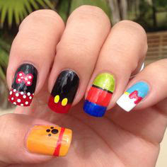 Disney nail art, creative disney nail art, Disney Nails, Disney Finger Nails, Fun Disney Nail art, fancy Disney Nail art, nail art, disney nail art for kids, Minnie Mouse Nail Art, Beauty and the Beast nail art, tinkerbelle nail art, goofy nail art, Little Mermaid nail art