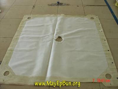 Vải lọc máy ép bùn khung bản nhập khẩu Hàn Quốc