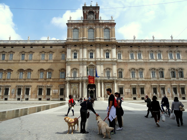 Ducal Palace and Piazza Roma in Modena, Italy