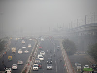 Delhi is India's most polluted city, according to Greenpeace, with concentrations of particulate matter 13 times the limit set by the World Health Organisation (Credit: Reuters) Click to Enlarge.