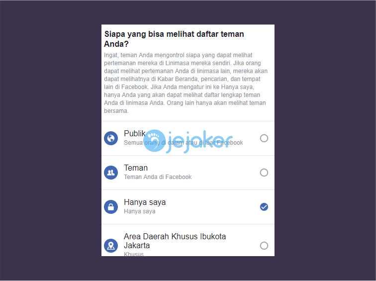 sembunykan Daftar Teman Facebook Lewat Browser di Smartphone