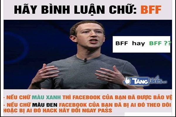comment BFF tren facebook