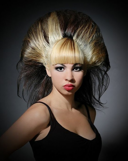 fashionista girl crazy-wild hairstyle