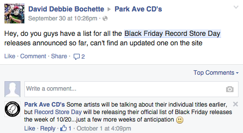 fb60e33a9b6 Everyone appears to be on the same page. Everything is going smoothly. One  record store ...