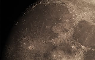 Crater Copernicus via a Skywatcher 130P telescope