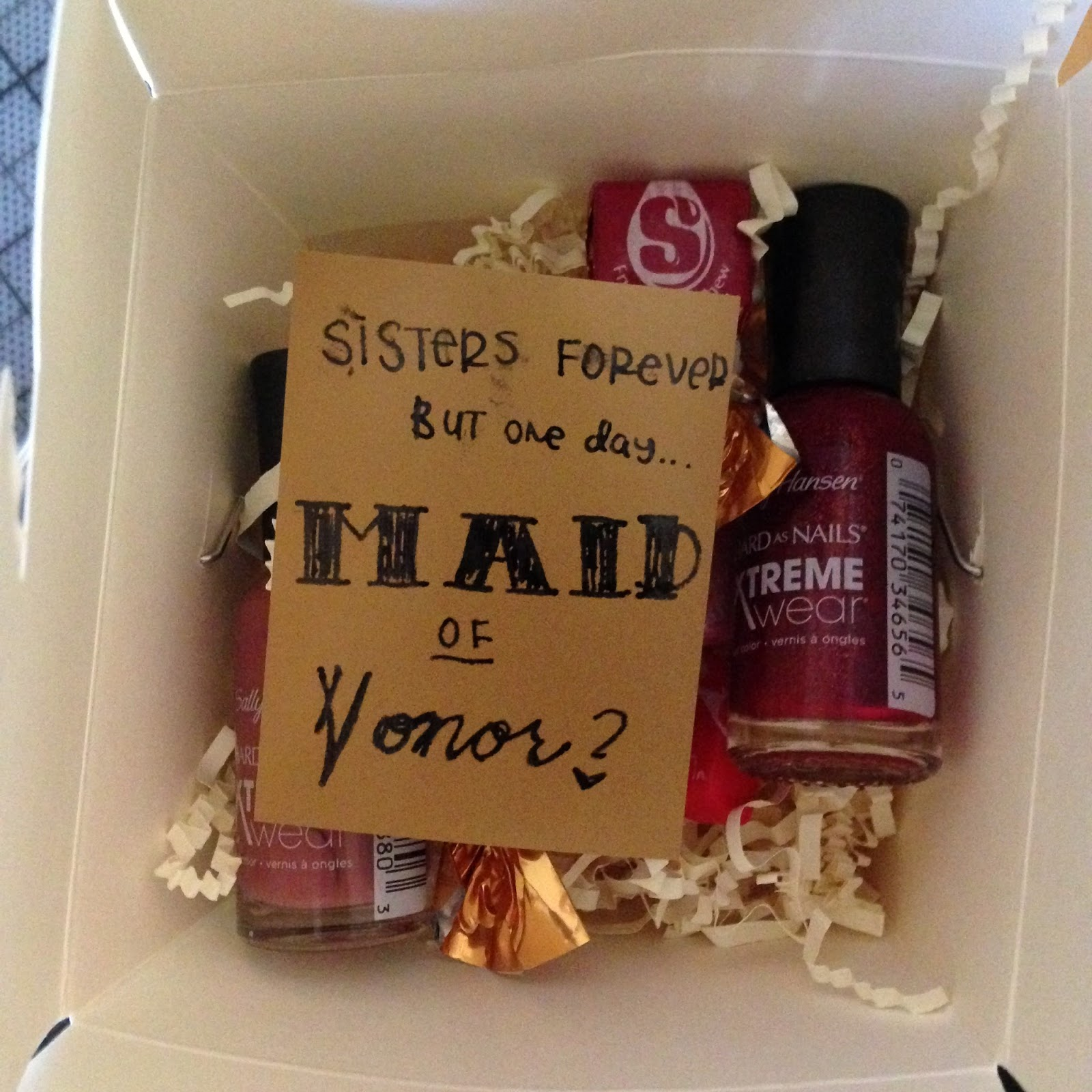 Bridesmaid Gifts: Chinese Take-out Box Full Of Goodies