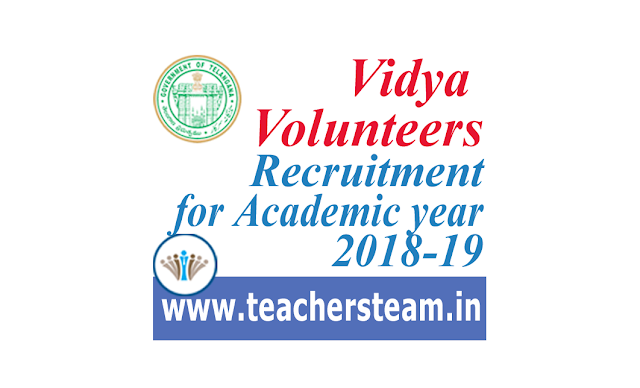 Vidya Volunteers Recruitment for the academic year 2018-19