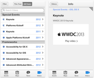 Apple WWDC 2013 iOS App Image
