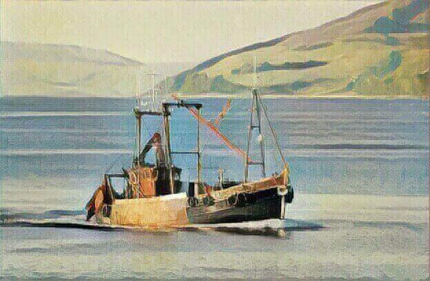 Катер на морі