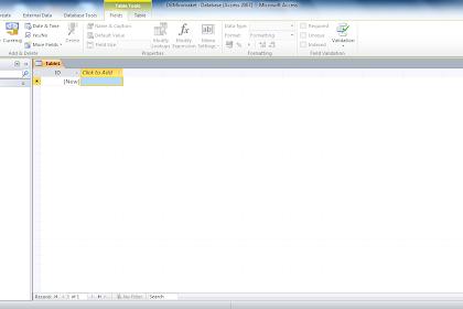 Cara Membuat Database Access & Tabel Menggunakan Access 2010
