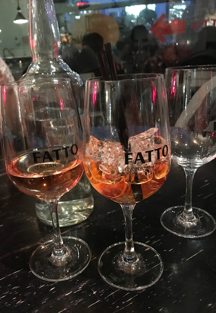 Fatto Bar & Cantina, Melboune, rose and aperol