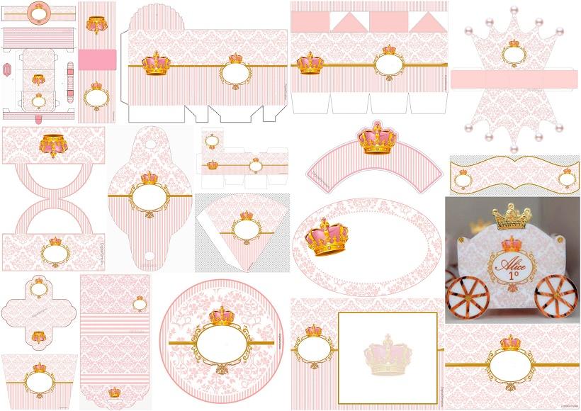 Corona de Princesa en Rosa: Kit para Quince Años para