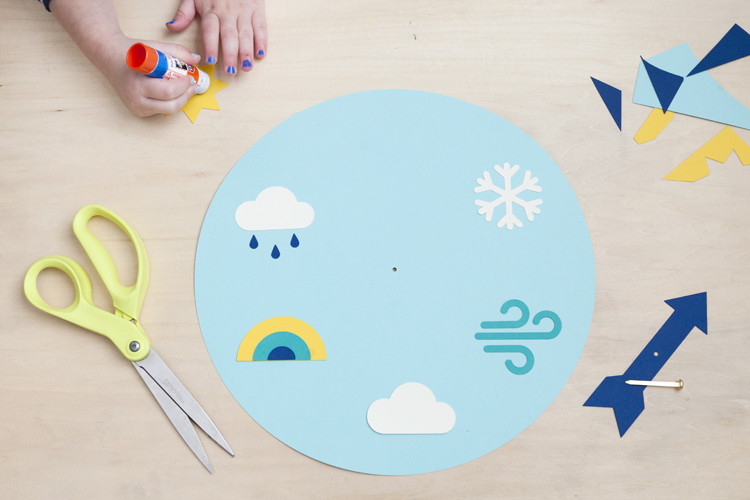 glue stick weather wheel learn play