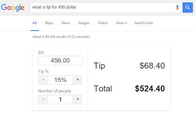 Hal Menarik yang Bisa Di lakukan Google Search - Jumlah tips