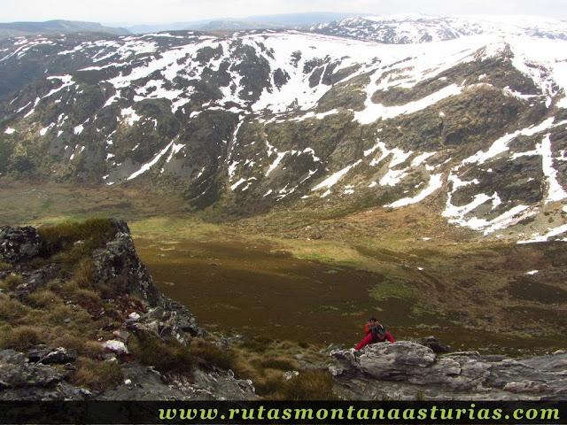 Últimos metros a la cima de Peña Trevinca