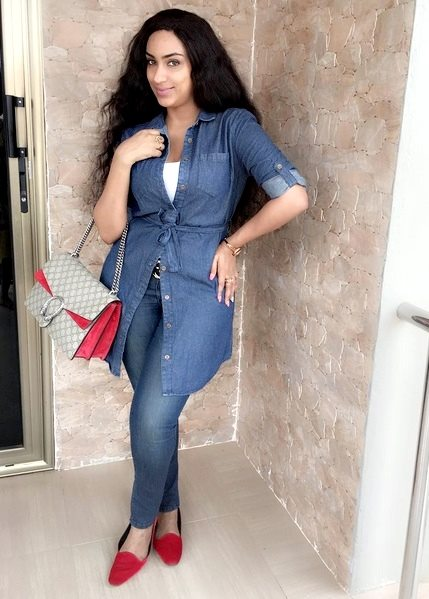Actress Juliet Ibrahim looks like Beyonce in here dress