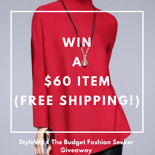 Giveaway: Win a $60 Item from StyleWe - Budget Fashion Seeker