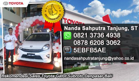 Rekomendasi Sales Toyota Gatot Subroto Denpasar Bali