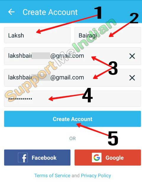 Wish app par account kaise banaye.