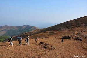 Trekking group on the way to Manikyadhara