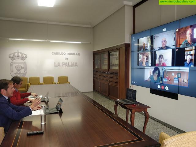 Mariano H. Zapata pone en valor  la experiencia de los ex presidentes del Cabildo de La Palma para afrontar la crisis de la COVID-19