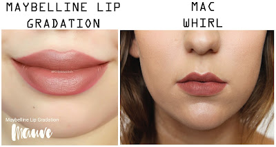 mac whirl dupe maybelline lip gradation mauve