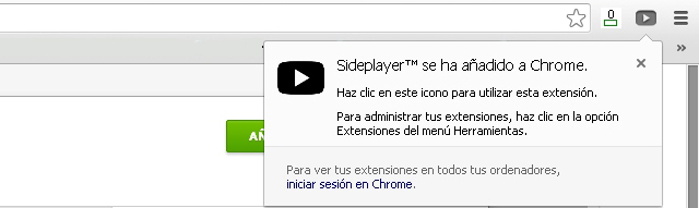 Como se usa Sideplayer