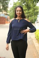 Poojita Super Cute Smile in Blue Top black Trousers at Darsakudu press meet ~ Celebrities Galleries 033.JPG