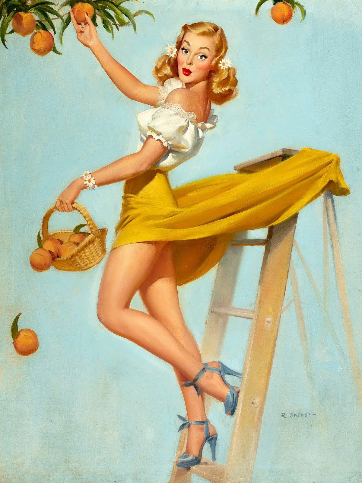 vintage girl posters jpg 1500x1000