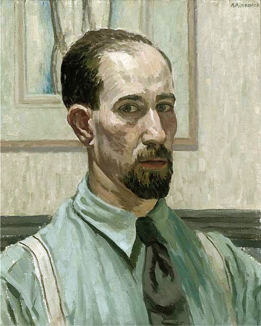Arnold Auerbach, Self Portrait, Portraits of Painters, Fine arts, Portraits of painters blog, Paintings of Arnold Auerbach, Painter Arnold Auerbach